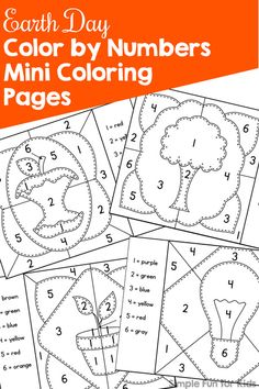 celebrate earth day in a fun educational way with these printable earth day color by number