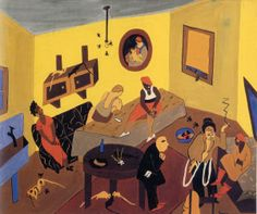 Interior Scene, 1937 by Jacob Lawrence