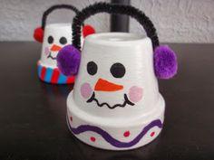 Peanut Life Adventures: Clay Pot Snowmen