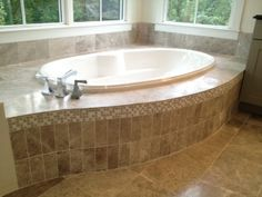 Luxury master bath soaking tub.