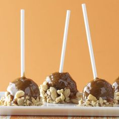 Caramel Apple Cake Pops Recipe