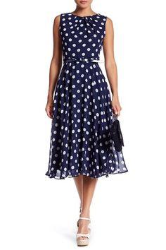 Sleeveless Belted Midi Dress by Eliza J on @nordstrom_rack
