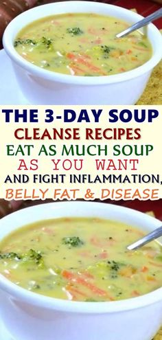 that reason, people turn to numerous different cleansing methods; all intended to flush the body toxins, clear the skin, refresh the body organs and keep a youthful appearance. Here are three detox soup recipes that will serve you amazingly : Skinny Recipes, Ww Recipes, Greek Recipes, Cooking Recipes, Healthy Recipes, Lowfat Soup Recipes, Healthy Soup Recipes, Soup Cleanse, Cleanse Recipes