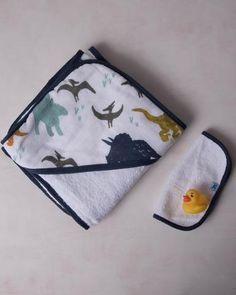 Hooded Towel Set - Dino Friends