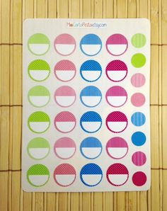 Small Text Circles for your planner, made by MioCartaPesta