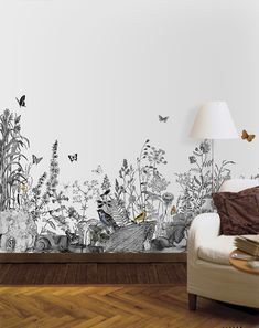 Cheap And Easy Tips: Feminine Minimalist Bedroom Girly minimalist home inspiration house tours.Minimalist Home Inspiration House Tours minimalist interior design black.Minimalist Interior Bedroom Walk In. Bedroom Wallpaper Leaf, Wallpaper Decor, Painting Wallpaper, Photo Wallpaper, Nature Wallpaper, Tree Wallpaper, Painting Art, Leaves Wallpaper, Amazing Wallpaper