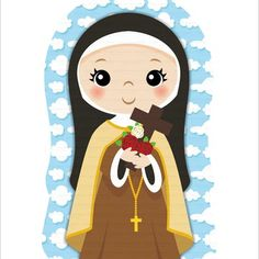 Sainte Therese De Lisieux, Christmas Patchwork, Santa Teresa, Mary Poppins, Wallpaper, Quilling, Minnie Mouse, Disney Characters, Fictional Characters
