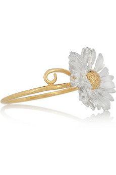 Alex Monroe - gold and silver-plated daisy ring Body Jewelry, Jewelry Art, Silver Jewelry, Jewelry Accessories, Daisy Jewellery, Jewelry Rings, Jewlery, Daisy Ring, Daisy Daisy