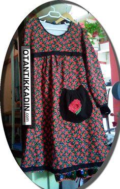 Otantik Kırmızı Çiçekli Pazen Elbise -011216 | Otantik Kadın, Otantik Giysiler, Elbiseler,Bohem giyim, her hakkı saklıdır izinsiz olarak kullanılamaz. Kopyalanamaz