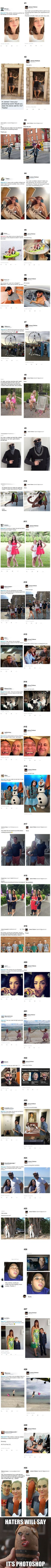 Geek Discover 30 Photoshop Requests That Are Taken Literally By James Fridman More memes funny videos and pics on James Fridman E Have A Laugh Just For Laughs Funny Posts Laugh Out Loud The Funny I Laughed Funny Pictures Funny Quotes, Funny Memes, Hilarious, Jokes, Funny Fails, Funny Yearbook Quotes, Funny Videos, Really Funny, The Funny