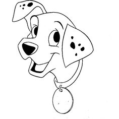 Cute Dalmatian Puppy Coloring Page