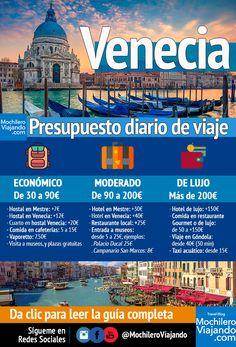 Cuánto cuesta viajar a Venecia - Presupuesto diario - Mochilero Viajando Travel Tours, Travel Advice, Travel Destinations, Time Travel, Places To Travel, Travel Collage, Europe Photos, Travel Scrapbook, Art Design