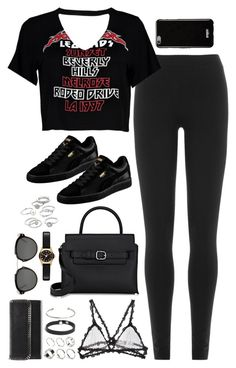 """""""Sem título #5126"""" by fashionnfacts ❤ liked on Polyvore featuring DKNY, Boohoo, Puma, Givenchy, Alexander Wang, Fleur du Mal, ASOS, STELLA McCARTNEY, Christian Dior and Marc by Marc Jacobs"""
