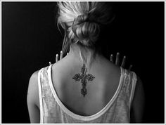 Checking the Various Celtic Tattoo Designs: Small Celtic Cross Design Ideas For Women On Back ~ lookmytattoo.com Tattoo Design Inspiration