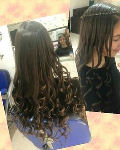 Crespos  con trenza cáscada👌 Long Hair Styles, Instagram, Beauty, Curly, Child Hairstyles, Trendy Hairstyles, Plaits Hairstyles, Waterfall Plait, Waterfalls