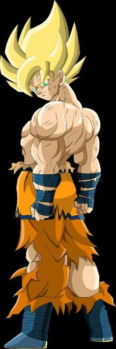 Super Saiyan Goku (Frieza Saga) MLL Redesign by on DeviantArt Dragon Ball Gt, Akira, Figurine Dragon, Manga Dragon, D Mark, Desenho Tattoo, Z Arts, Fan Art, Anime Characters