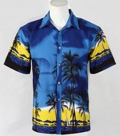 62c31a09c Hawaiian Beach Shirt Short Sleeve Men Beach