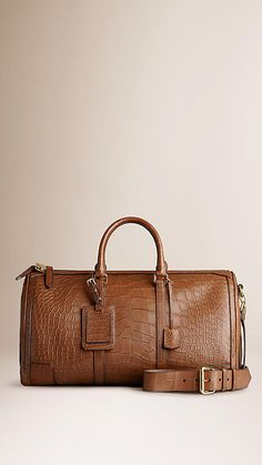 Tan The Large Alchester in Alligator Leather
