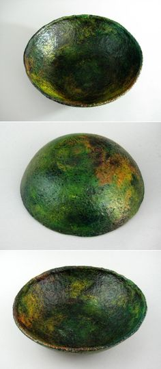 Items similar to Recycled Paper Bowl, Paper Bowl, Paper Mache Bowl on Etsy Paper Mache Bowls, Paper Bowls, Paper Mache Clay, Paper Mache Projects, Paper Mache Crafts, Clay Crafts, Art Projects, Paper Toy, Diy Paper