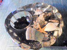 inclusion vide poches avec poisson étoile de mer vintage rétro
