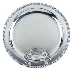 Your friends and family will admire this Crab Masthead 14 inch diameter hand crafted round serving tray with clean, highly polished surfaces.