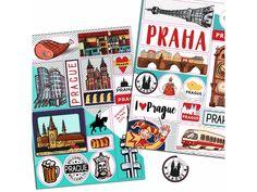 Samolepky Praha. 2 archy A5 (21 x 14,8 cm) plné samolepek, které využijete k zápiskům z výletu do Prahy.Celkem 27 samolepek, každá je vyříznutá pro jednoduché použití.Samolepky jsou skvělé pro zdobení zápisníků, deníků, scrapbookingu, přání atd.Design: Marie Mada Brogowski.Ty nejkrásnější knihy a hry pro děti o… Ali Express, Arches, Prague, Mario, Playing Cards, City, Puzzle, Puzzles, Playing Card Games