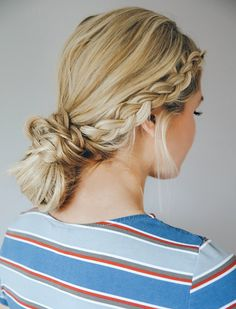 Loving this easy braided hairstyle...follow this board for all things beauty related!
