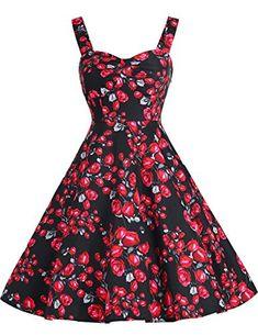 Dresstells® Shoulder Straps 1950s Retro Audrey Swing…