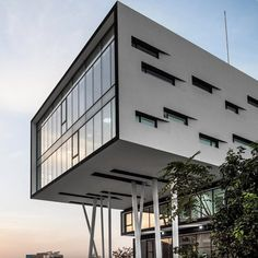 Nestlé Waters' Beirut office is top heavy to allow space for trucks to pass by