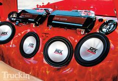 Custom fiberglass enclosure with MTX subwoofers and Thunder Elite amplifiers #MTXAudio
