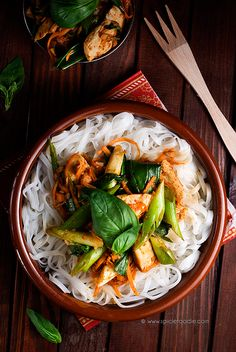 Curried Spicy Chicken and Basil by @SpicieFoodie   #chicken #Thai #curry @SpicieFoodie