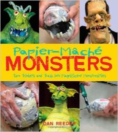Papier-Mache Monsters: Turn Trinkets and Trash into Magnificent Monstrosities by Dan Reeder --- might be cool to check out before halloween Making Paper Mache, Paper Mache Clay, Paper Mache Sculpture, Sculpture Ideas, Sculptures, Clay Art, Paper Mache Projects, Paper Mache Crafts, Craft Projects