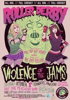 Roller Derby - Violence of the Jams.