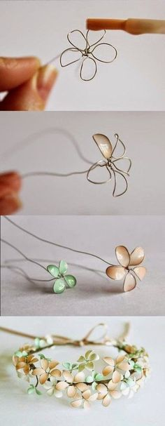 Craft Project Ideas: Nail Polish and Wire Flowers