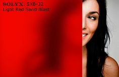 SOLYX: SXB-32 Light Red Sand Blast Window Film - Frosted, colored, privacy window film. Brilliant color and good light transmission. This frosted vinyl, self-adhering film, is perfect for adding colored privacy!