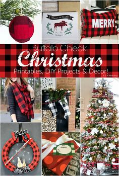 DIY Buffalo Check Christmas Ideas!! So many cute ideas!