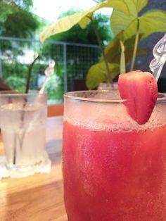 Strawberry juice in Gya Cafe, Yogyakarta