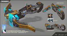 Weapon series 1_crossbows, Rock D on ArtStation at https://www.artstation.com/artwork/POGd8