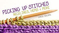 Picking Up Stitches: Necklines, Hems