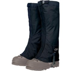 OR brand gaiters. This have been lifesavers on all of the Search and Rescue stuff I've been on so far. A must have for anyone going in the backcountry/someplace with standing water or lots of mud. Well worth the $50!