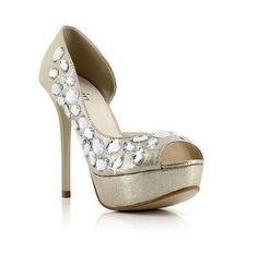 elegant light gold with ornaments heels @ http://trendy-stilettoheels.blogspot.com