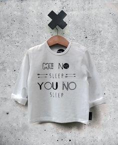 T-shirt wit no sleep