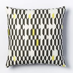 Kate Spade Saturday for West Elm - Shifting Shapes Pillow Cover in Slate