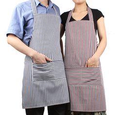 Mai più macchiare i vestiti, mentre si sta cucinano con questo grembiule da cucina in tela super resistente da lino e cotone con design di stile coreano.