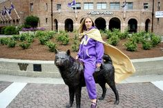 Swagga Suit at it again! posting up in front of the University of Washington