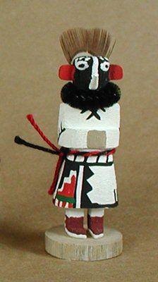 "Authentic Native American Hopi kachina dolls - miniature ""Kokopelli"""