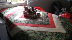 Toalha de mesa de Natal! Fácil de fazer.