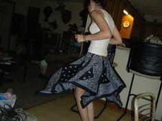Basically a Blue Bandana skirt - CLOTHING