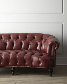 """Leather """"Pressley"""" Sofa by Old Hickory Tannery at Horchow."""