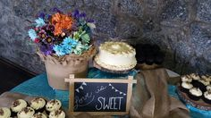 Sweet cupcake/cake table  www.simpleblissevents.com